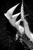 All Sails Up BW